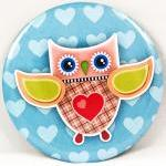 Pocket mirror - Owl pocket ..
