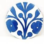 Pocket mirror - Blue and wh..
