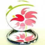 Pocket mirror - Pink and Gr..