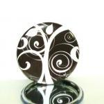 Pocket mirror - Black and W..