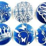 Magnets - Blue floral fridg..