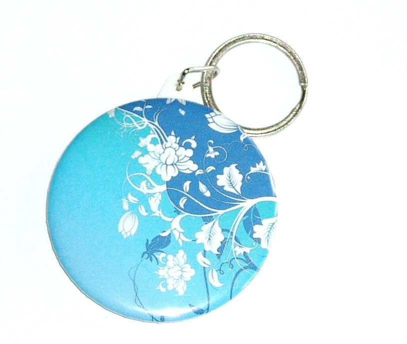 Keychain - Blue floral