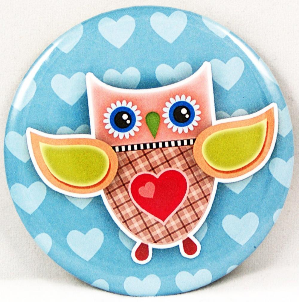Pocket mirror - Owl pocket mirror