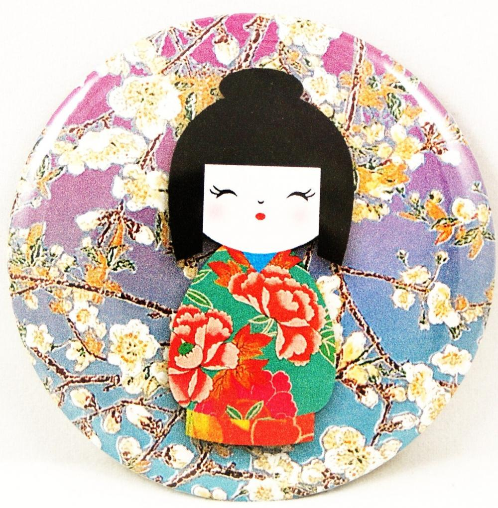 Pocket Mirror - Kokeisha Doll Pocket Mirror
