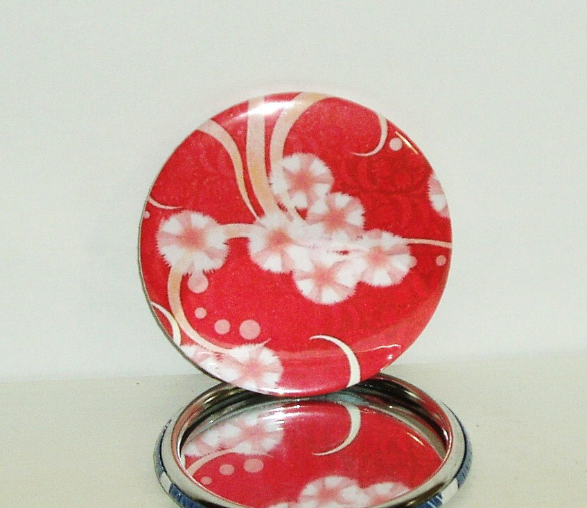Pocket mirror Pink Cherry Blossom