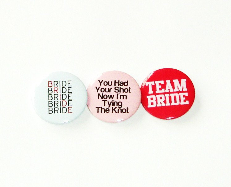 Pinback button badges Bachelorette / Hens night party pack of 12 badges