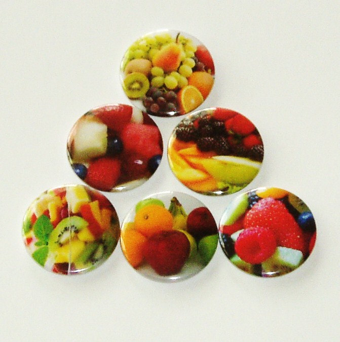 Fridge magnets - Fruit Salad - Set of 6 refrigerator magnets