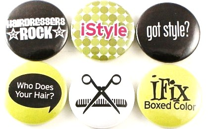 Fridge Magnets - Hairdresser - set of 6 magnets