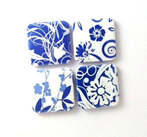 Magnets - Cool Blue - 4 fridge magnets
