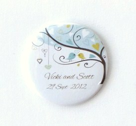 Personalised Pocket Mirror Wedding Favor