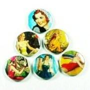 Fridge magnet set - Retro Women - refrigerator magnets (fm630